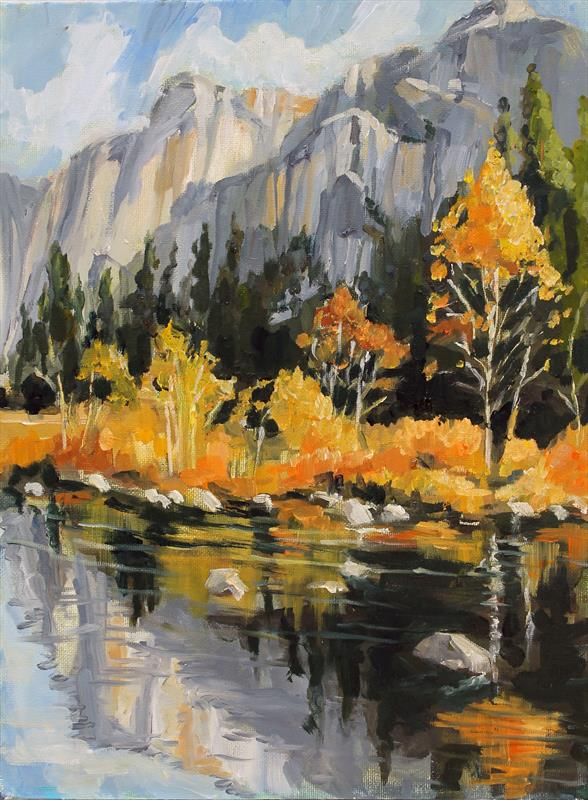laguna plein air artist virginia billes - yosemite november