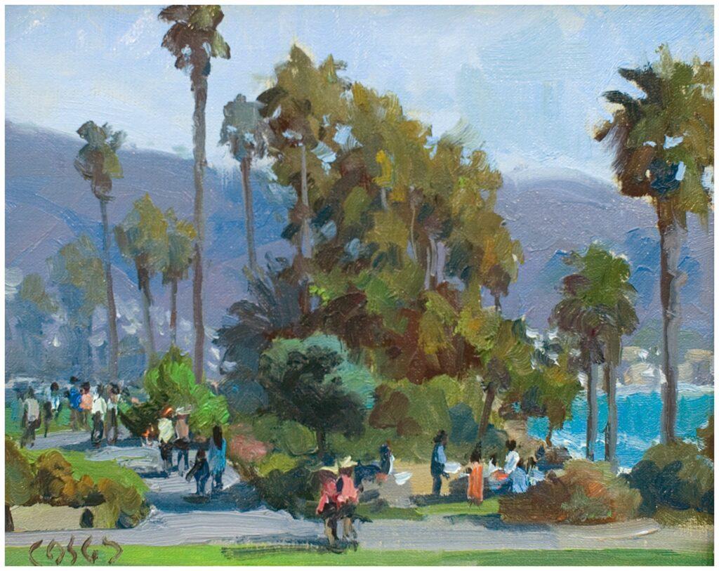 """""""Laguna Stroll"""" (8"""" x 10"""" oil) by John Cosby"""