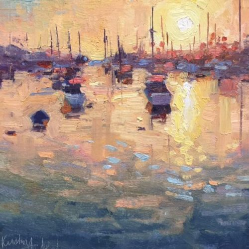 Laguna Plein Air Artist Kirsten Anderson - Into The Glow