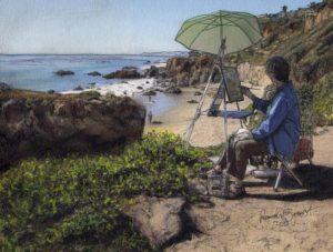 """Randy Sprout's """"Overlooking El Matador Beach"""""""