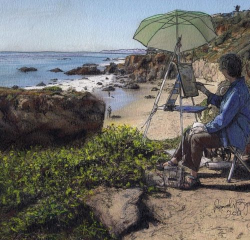 "Randy Sprout's ""Overlooking El Matador Beach"""