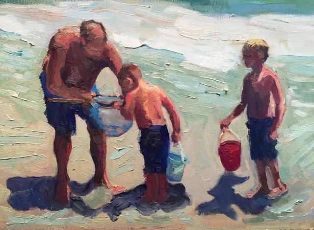 """Susan Gordinier's """"Catching Sand Crabs"""""""