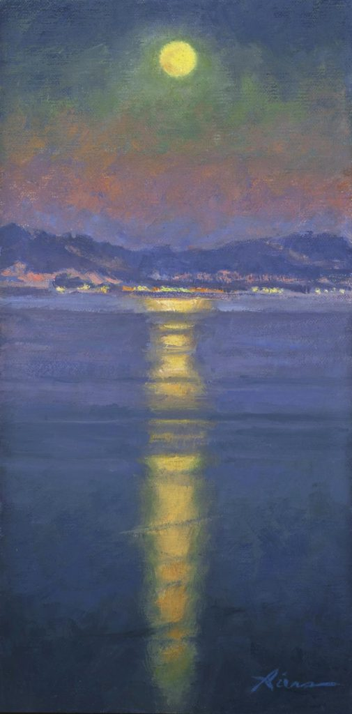 """Moonlight on the Bay"" by LPAPA Artist Nanette Biers"