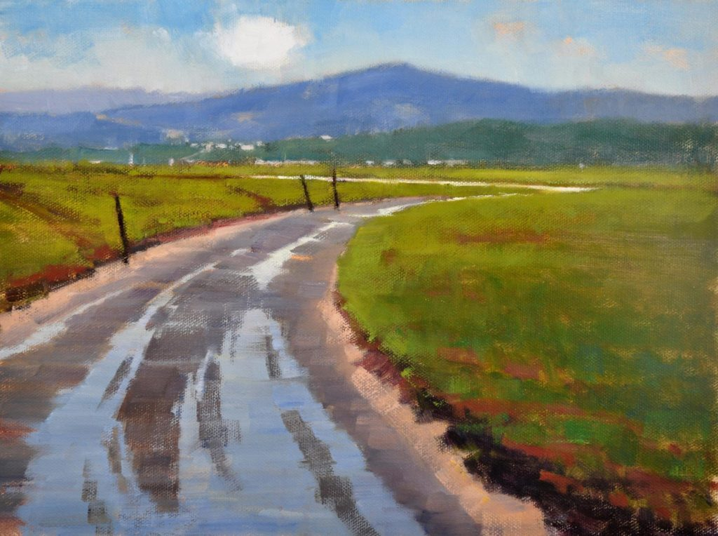Laguna Plein Air Signature Artist Carolyn Hesse-Low - Watery Route