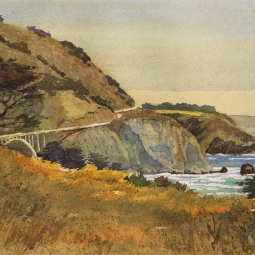 "Laguna Plein Air Signature Artist Larry Cannon ""Big Sur Gateway"""