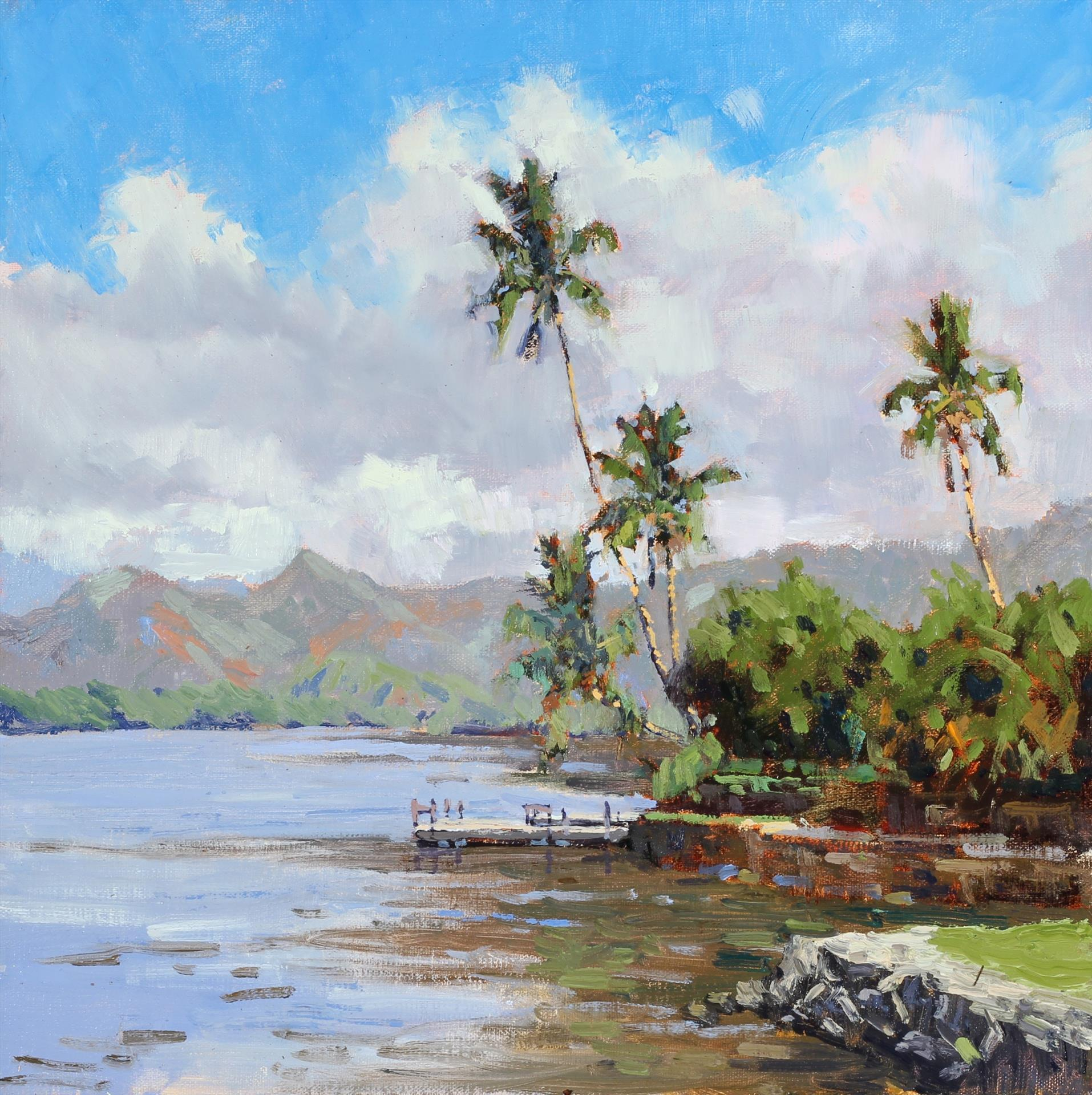 "1st Place: LPAPA Artist Pierre Bouret for ""Wailua River"""