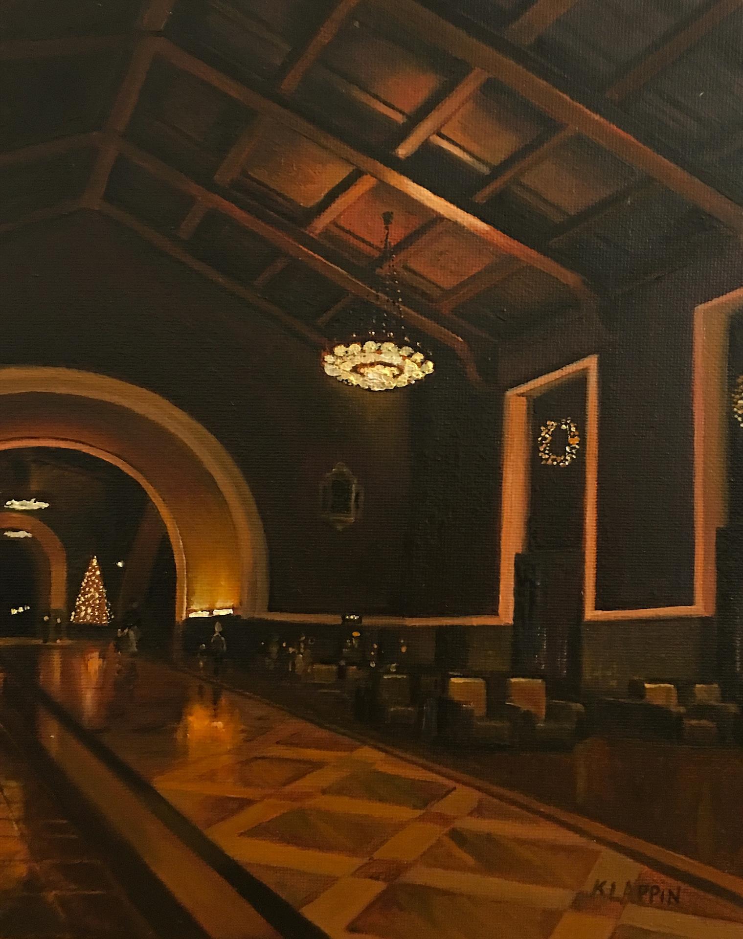 "LPAPA Artist Member Katarzyna Lappin ""Travelers at Union Station 8 x 10 oil"