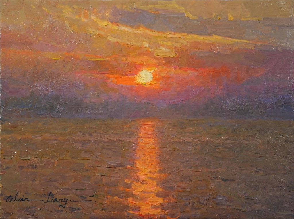 Sunset by LPAPA Signature Artist Calvin Liang