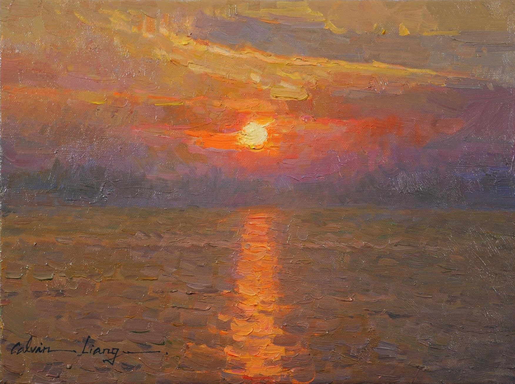 Sunset by LPAPA Signature Artist Calvin Liang