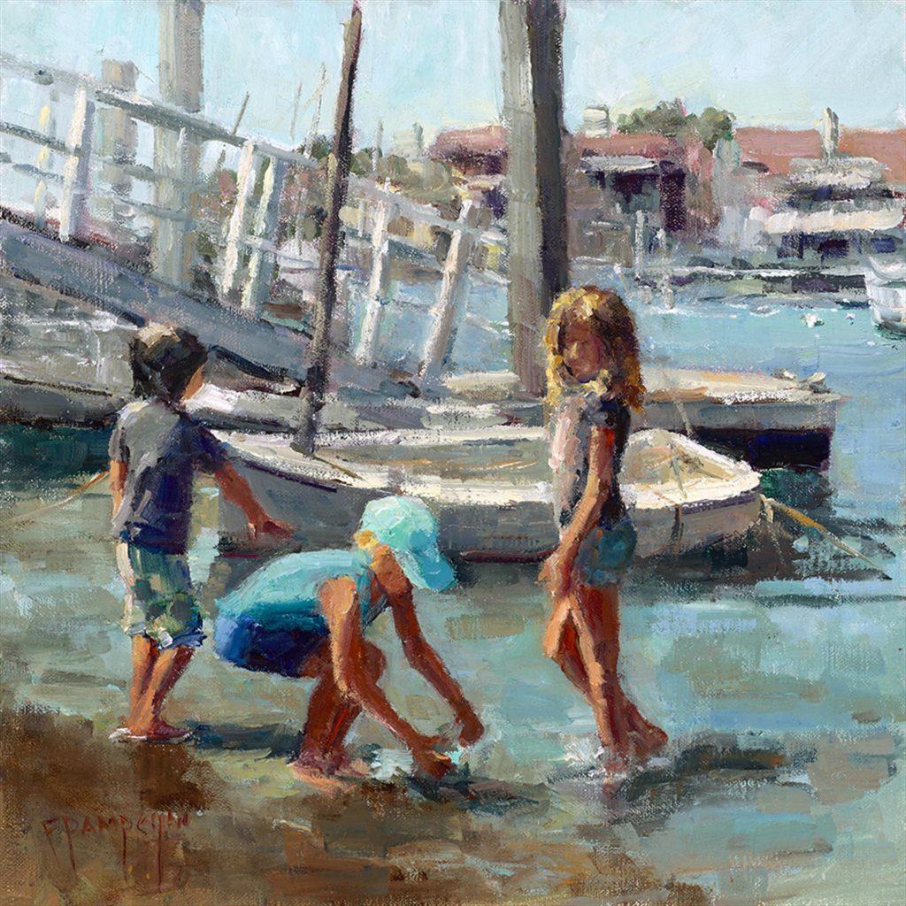 "Frances Pampeyan's ""Playing at the Beach"""