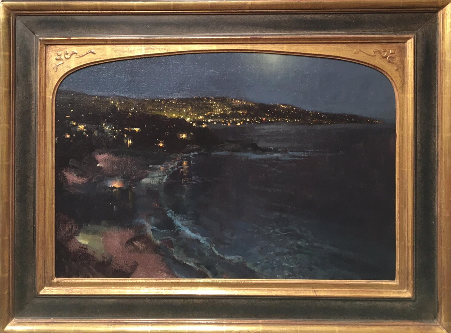 "Honorable Mention: LPAPA Signature Artist Jason Sacran for ""Laguna Lights"""