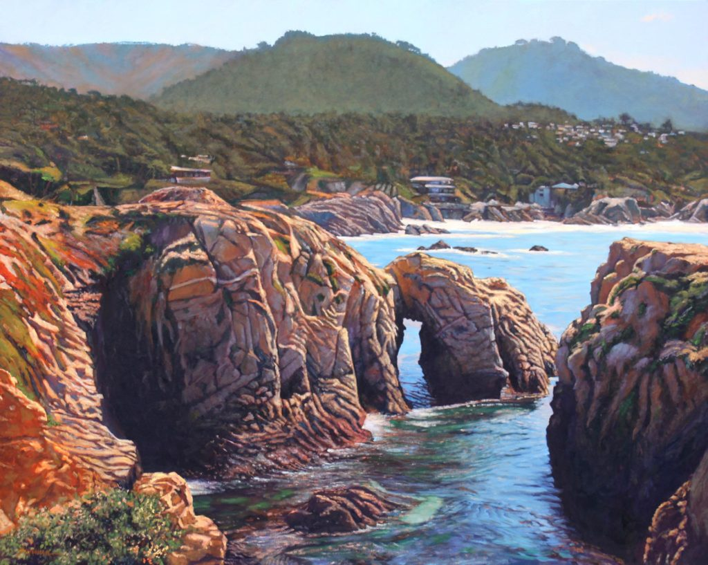 "1st Place: LPAPA Artist Tom Swimm for ""Point Lobos Grandeur"""