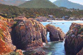 "1st Place: LPAPA Artist Tom Swimm for ""Point Lobos Grandeur"""