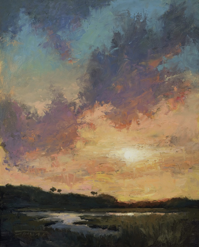 "Jane Hunt's ""Back Bay Sunset"""