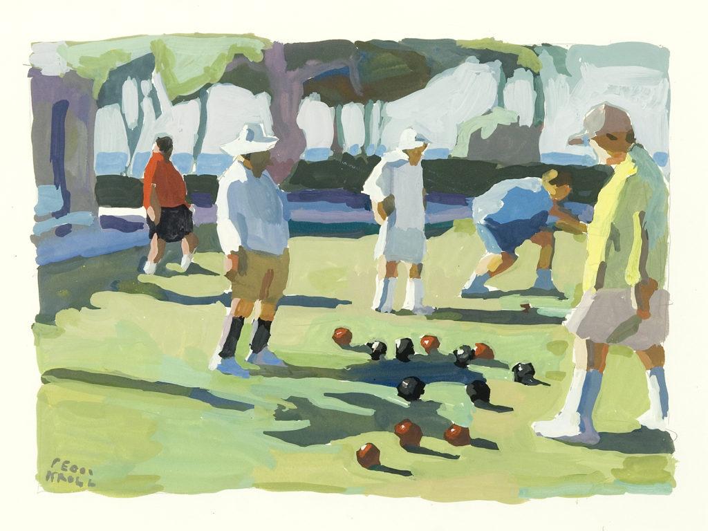 """Peggi Kroll-Roberts' """"Laguna Lawn Bowling"""""""