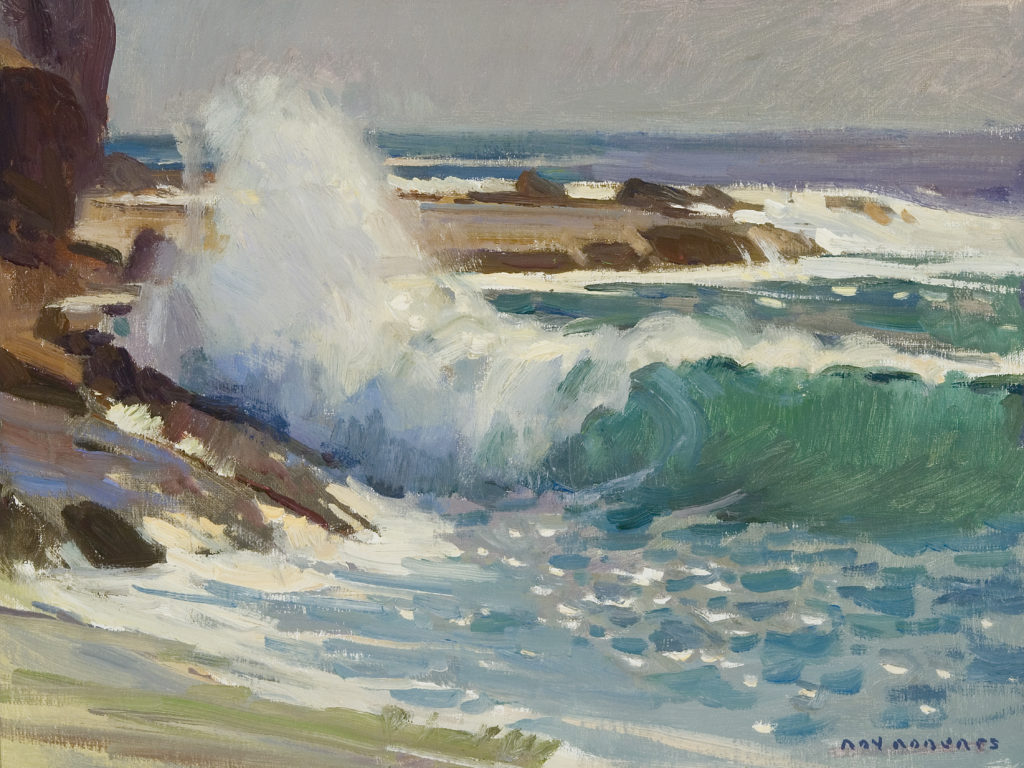 "Ray Roberts' ""Shorebreakers at Aliso Beach"""