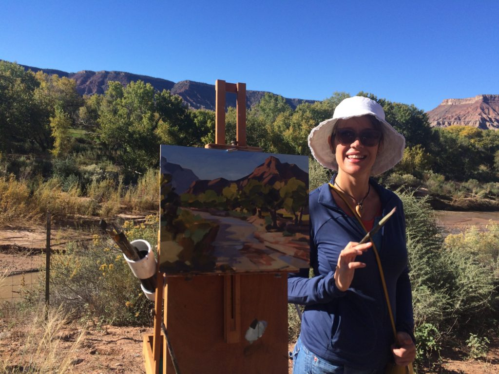 laguna plein air artist carla bosch - plein air painting - march 2017