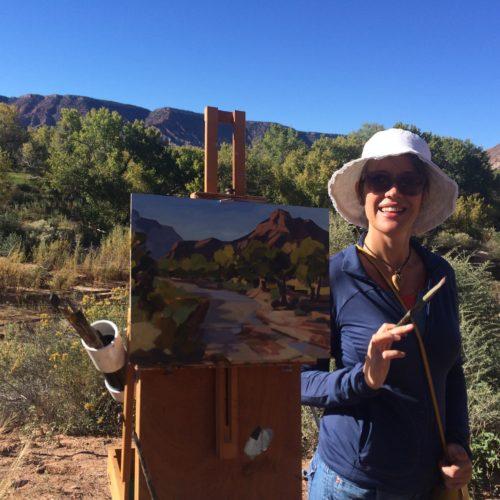 laguna plein air artist carla bosch - plein air painting - march 2017