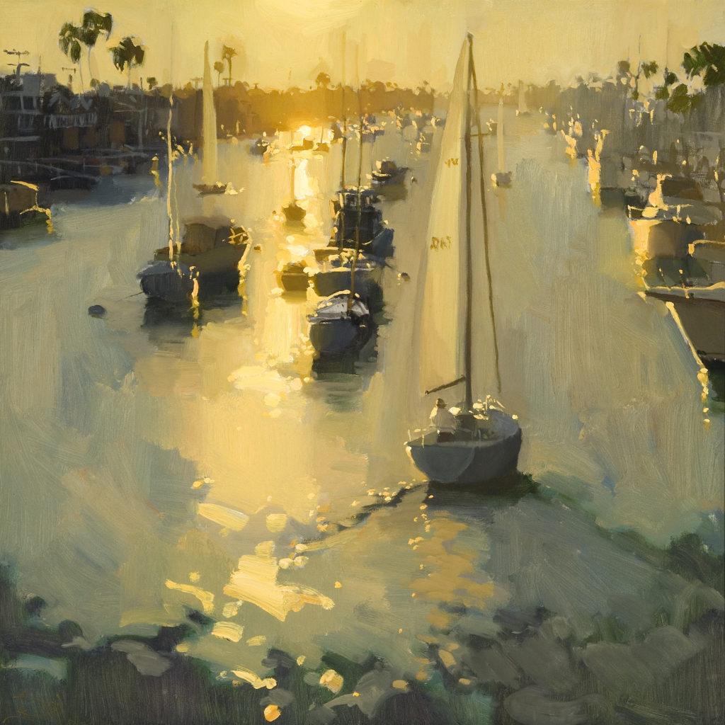 laguna plein air artist jennifer Diehl-Return at Sunset