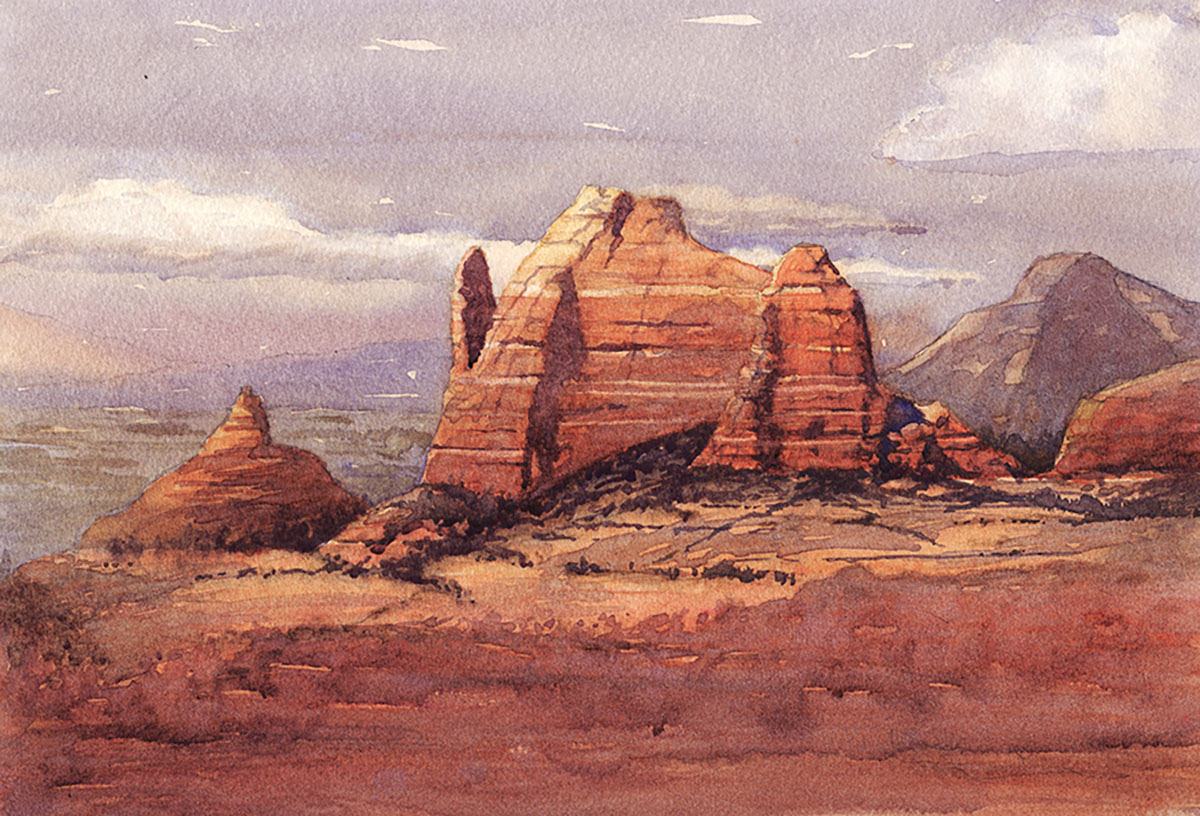 Laguna Plein Air watercolor artist Larry Cannon_Sedona Sentinel