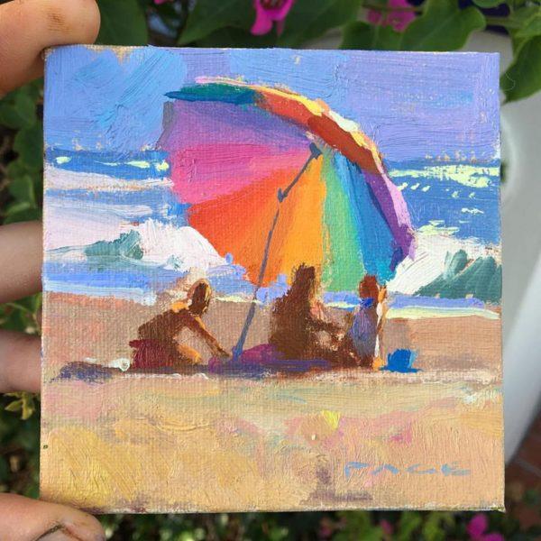 laguna plein air artist colin page miniature