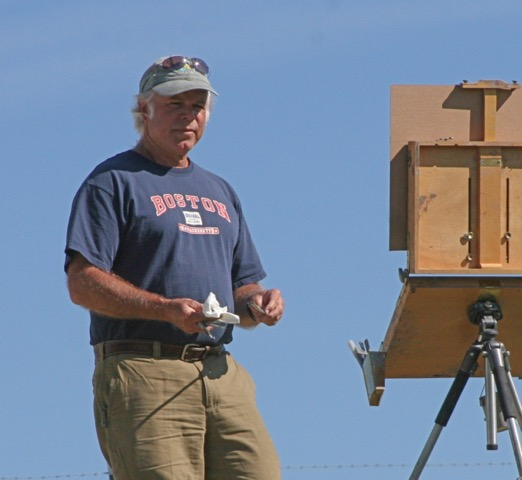 laguna plein air signature artist john cosby at easel