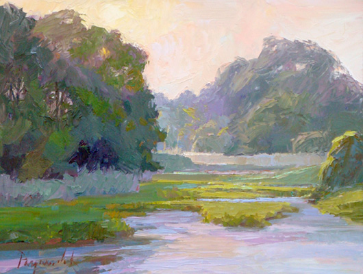 lpapa signature artist camille przewodek july easton maryland painting workshop
