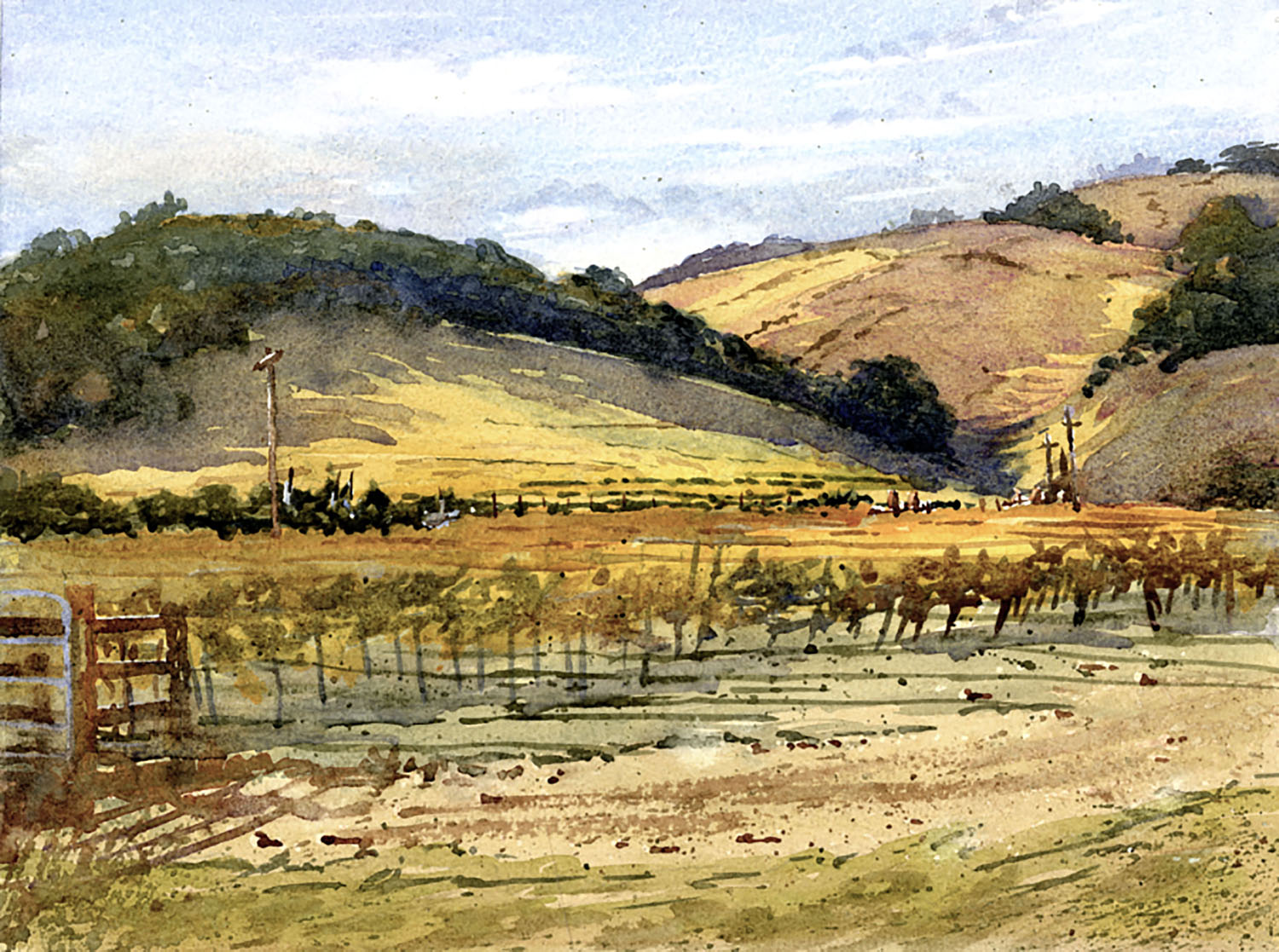 LPAPA Signature Artist Larry Cannon_Fall Vineyard