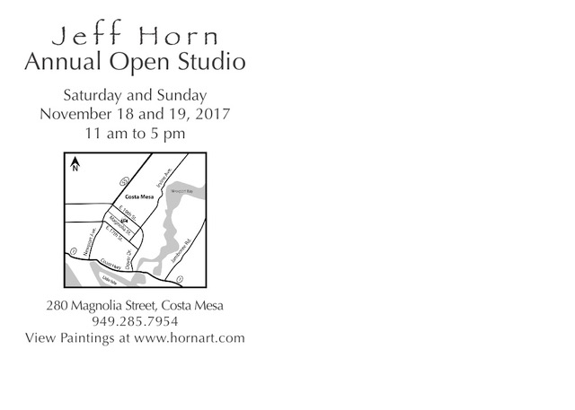 Laguna Plein Air Signature Artist Jeff Horn Open Studio November 2017