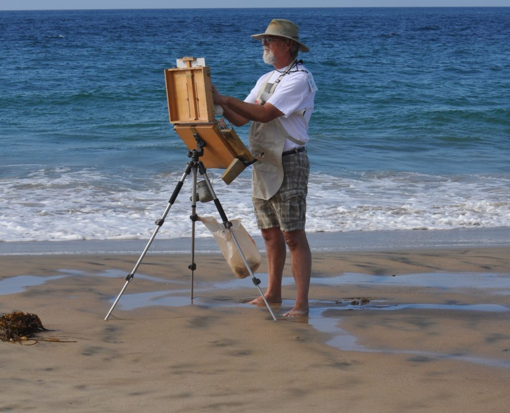 Jacobus Baas painting at Crystal Cove