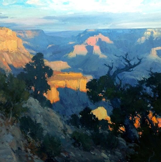 Laguna Plein Air Signature Artist Bill Cramer Grand Canyon painting workshop June 2018