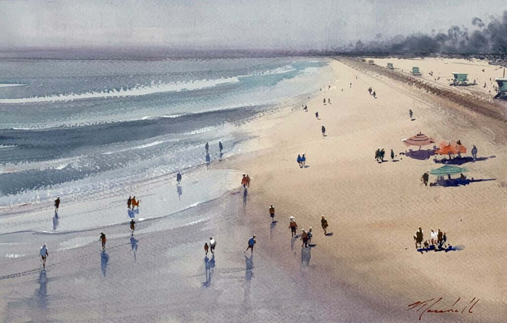 Winter Beach by Daniel Marshall
