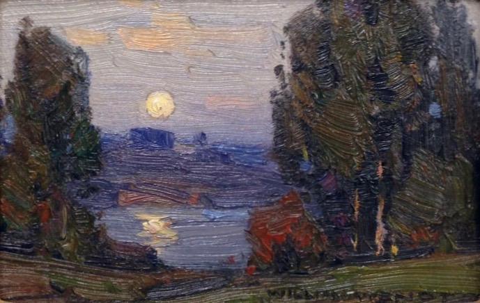 Nocturne by William Wendt (1865-1946)