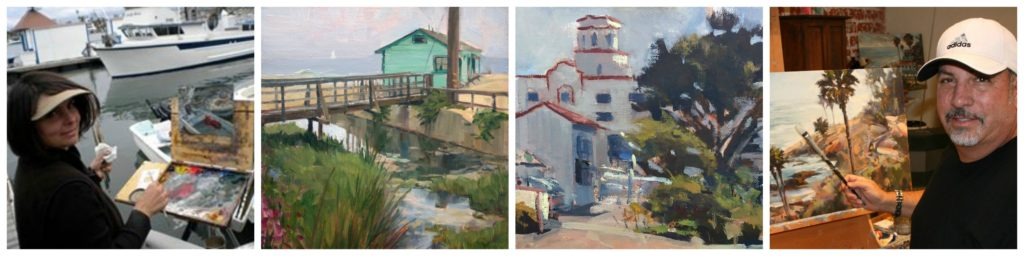 Outdoor Painting LPAPA Artists Anthony Salvo Lisa Mozzini-McDill February 2018