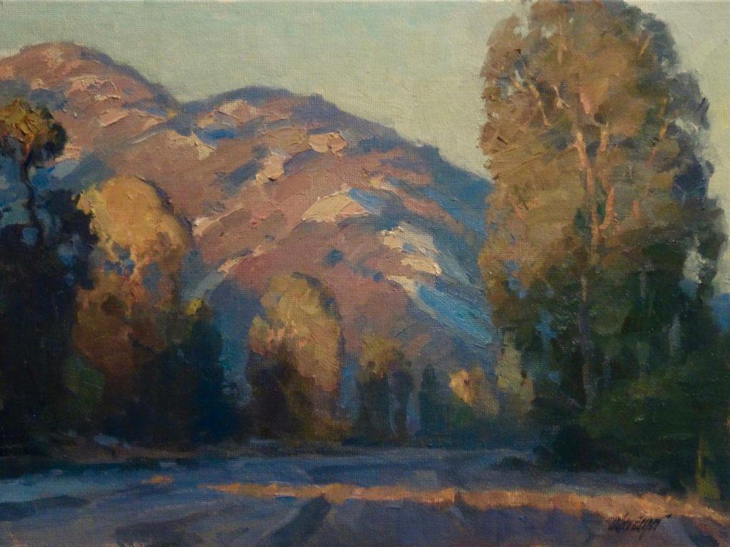 Laguna Plein Air Signature Artist Michael Obermeyer, Canyon Sunset