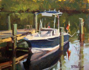 Laguna Plein Air Signature Artist Rita Pacheco, Peach Orchard Cove