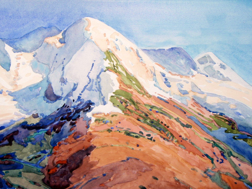 Peak Near the Eiger by LPAPA Signature Artist Robin Purcell