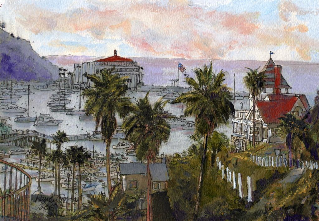 "LPAPA Artist Randy Sprout's ""Avalon Harbor Early Morning"""