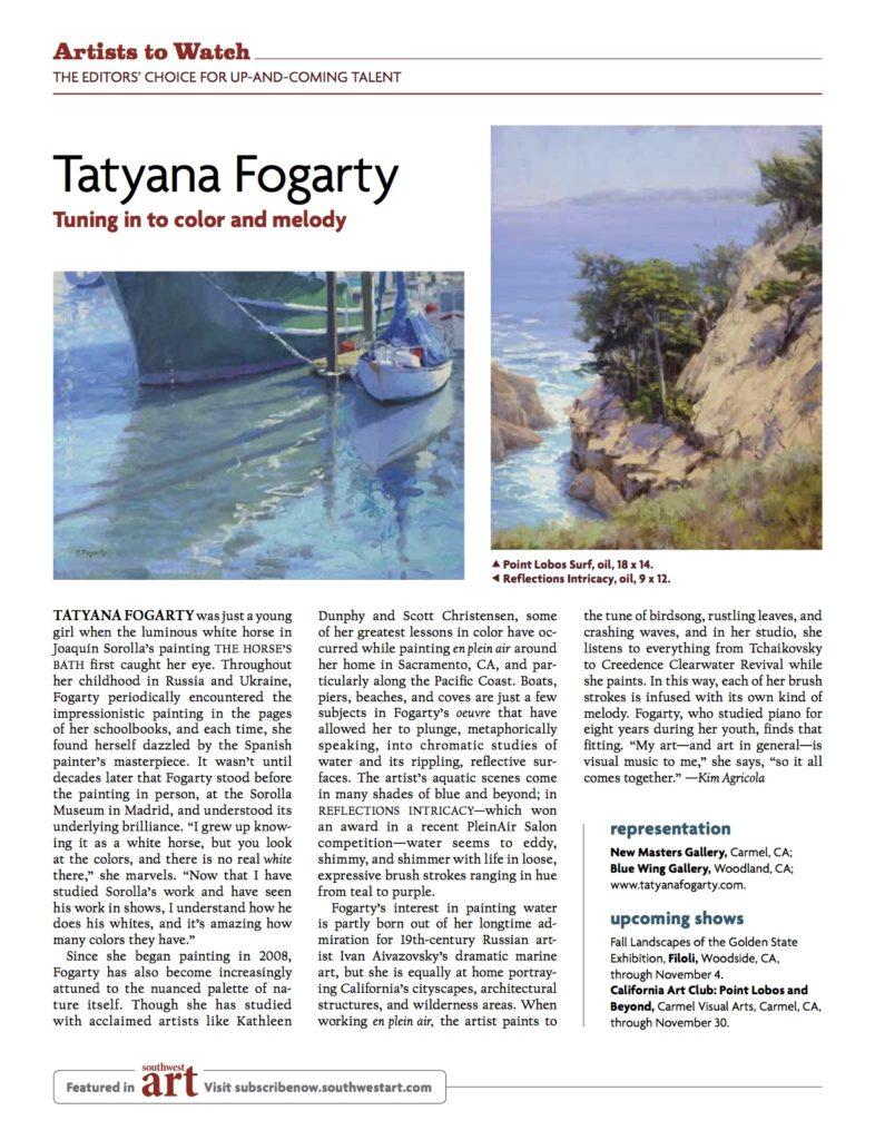 Laguna Plein Air Artist Member Tatyana Fogarty