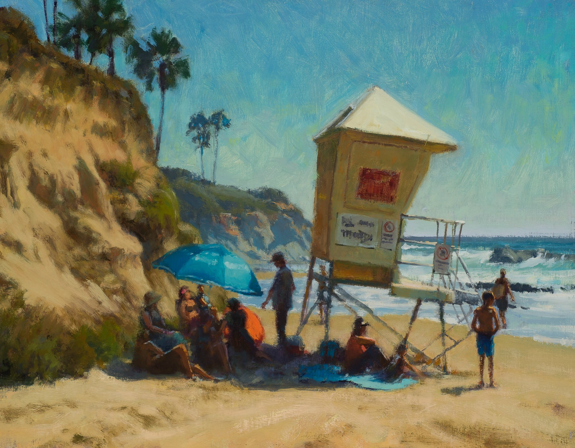 Laguna Plein Air Artist Carl Bretzke-Looking for Shade