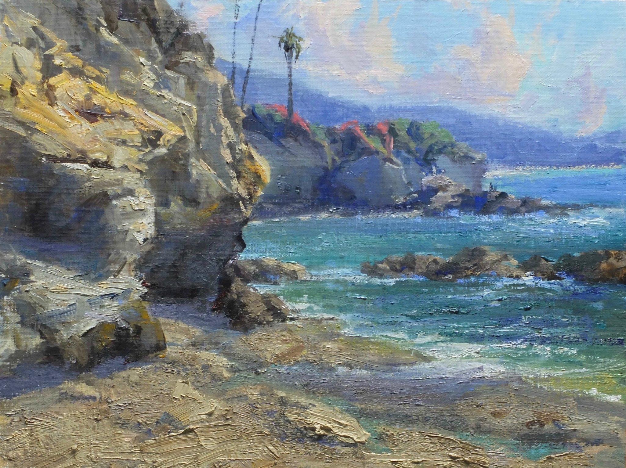 Laguna Plein Air Invitational Artist Bill Davidson's Cliff Dwellers