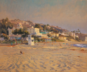 Laguna Plein Air Invitational Awards Golden Hour Main Beach Joe Paquet