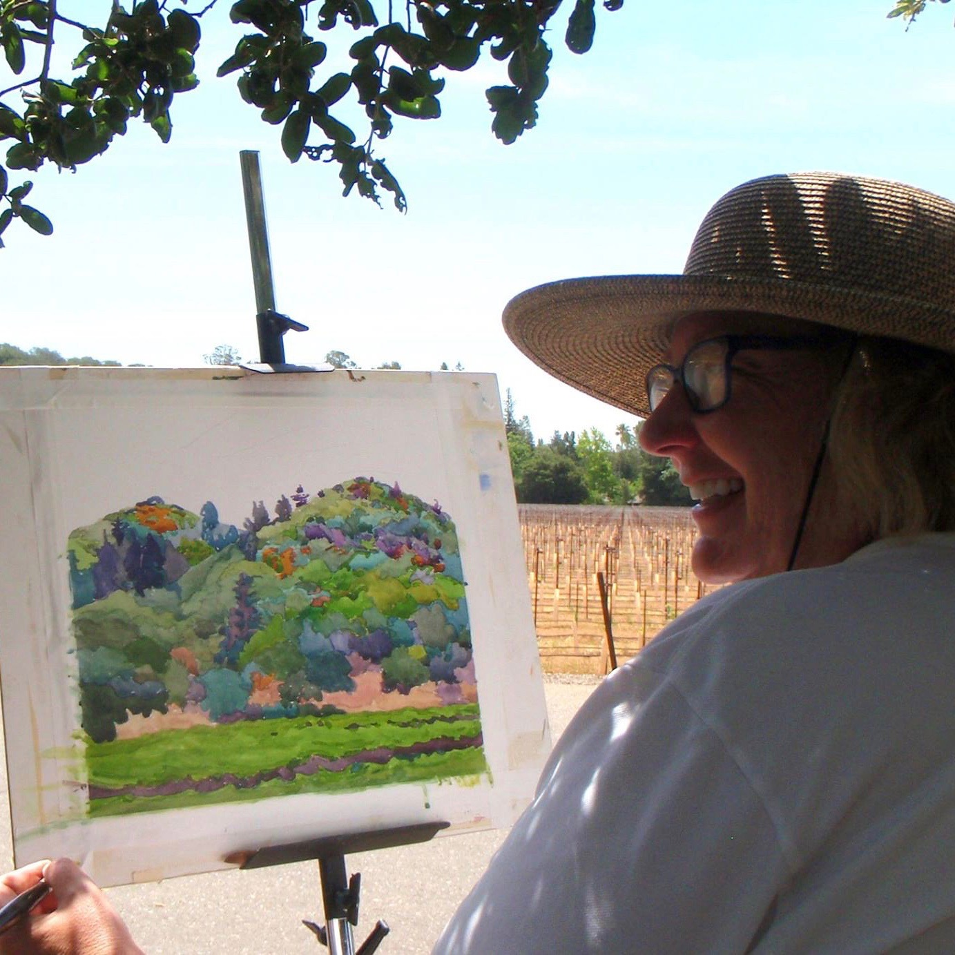 Laguna Plein Air Signature Artist Robin Purcell