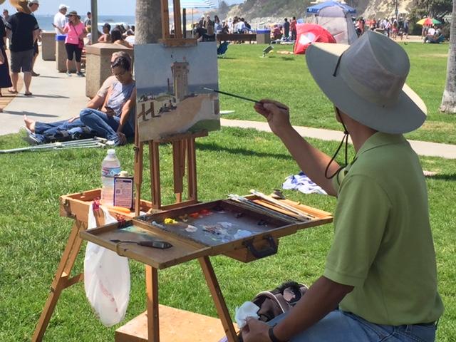 Calvin Liang Painting Laguna Beach
