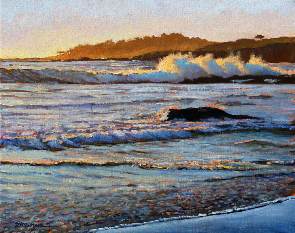 """Sunset Surf"" by LPAPA Artist Tom Swimm"