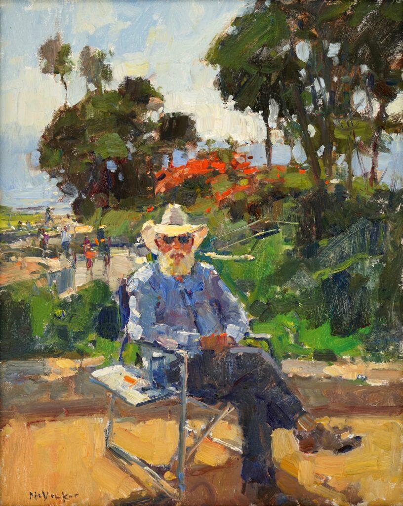 Bob Francis in Heisler Park by Jim McVicker