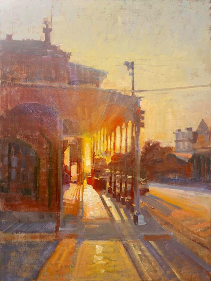 Sunset on Block One by LPAPA Signature Artist Hiu Lai Chong