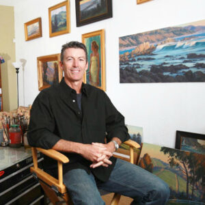 Michael Obermeyer, Painting Waves: Feb 29, 2020, Laguna Beach