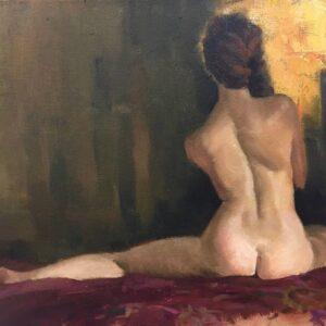 Michael Obermeyer, Painting Figures: Jan 25, 2020, Laguna Beach