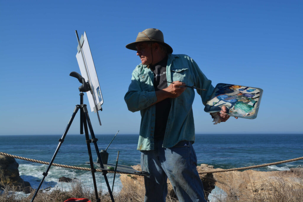 LPAPA Signature Artist Chuck Kovacic at the Easel